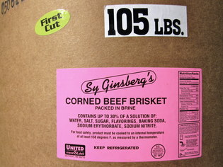 Sy Ginsberg's Corned Beef Brisket